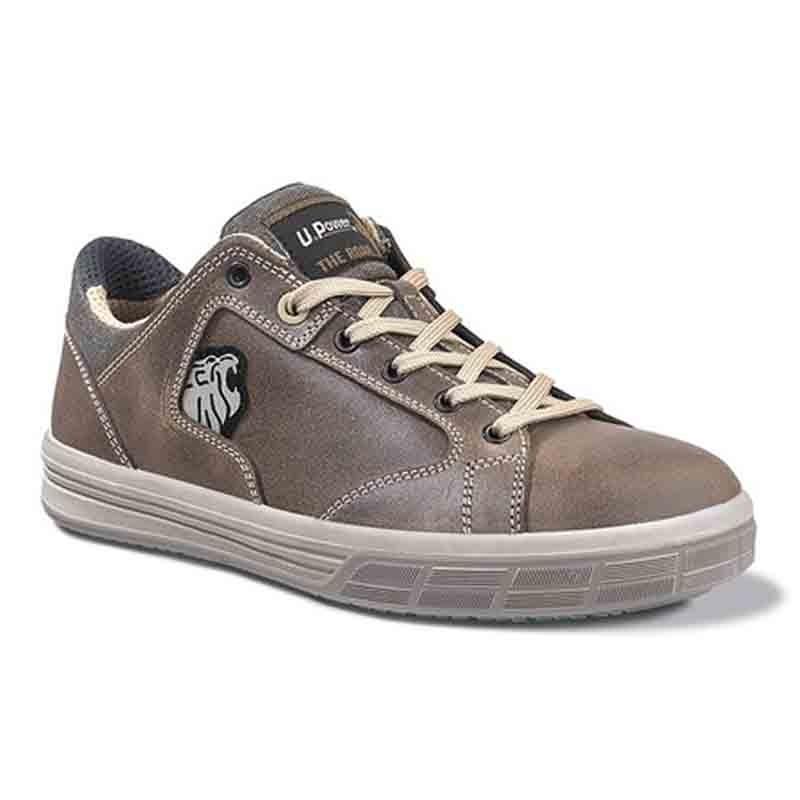 Baskets de sécurité Marron s3. Chaussures de sécurité aux normes avec coque de sécurité.