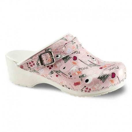 Sabots Médicaux Femme Shout Out Rose Sanita chaussures médicales