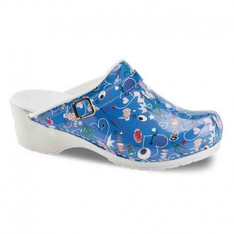 Sabots Médicaux Femme Shout Out Bleu Sanita chaussures médicales