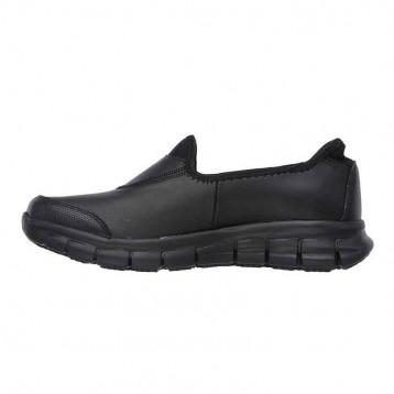 skechers sure track détail côté chaussures cuisine