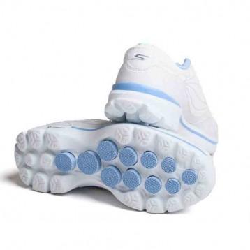 skechers bleue et blanche semelle bleue
