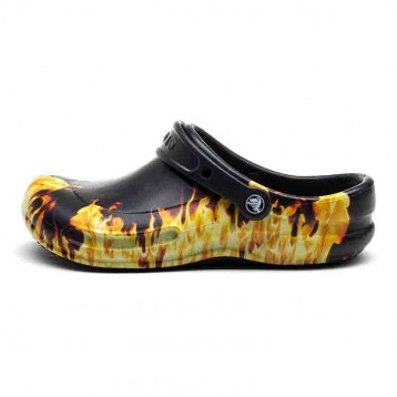 Sabots Crocs™ Bistro Flammes détail flamme