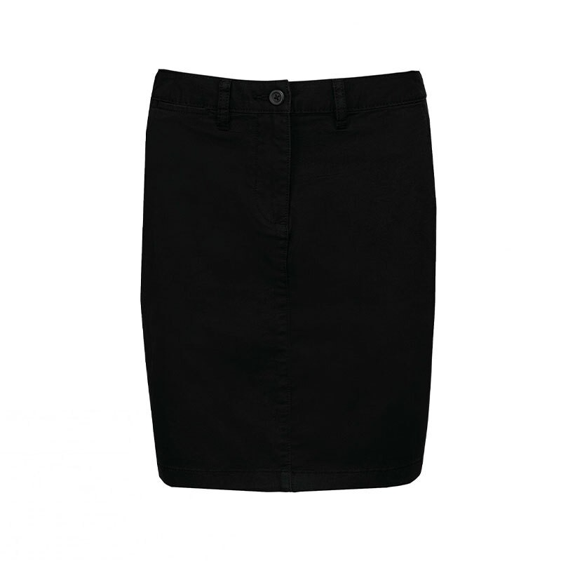 jupe chino noire femme