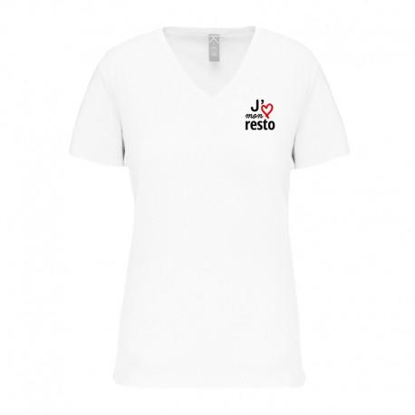 T-shirt femme - J'aime mon resto