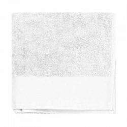 serviette de toilette coton bio blanc