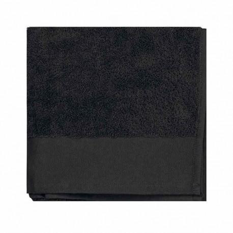 serviette de toilette coton bio noir