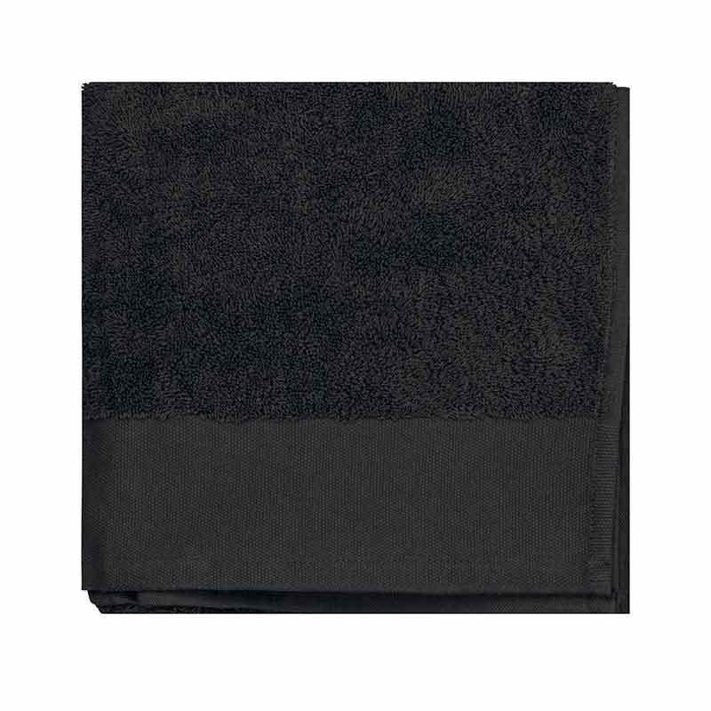 serviette de bain coton bio noir