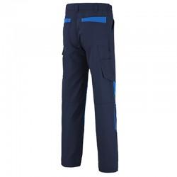 pantalon adolphe lafont bleu marine empiecement