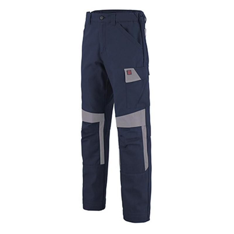 Pantalon de travail MARINE/ACIER 1COL82UP
