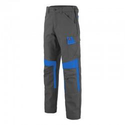 Pantalon de travail gris et bleu