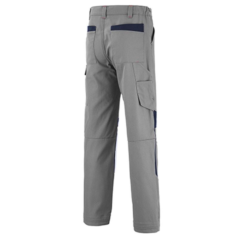 Pantalon de travail à empiecement bleu