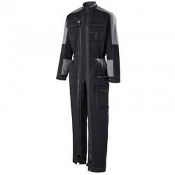 Combinaison de travail 2zips Noir gris Lafont pour homme multipoches