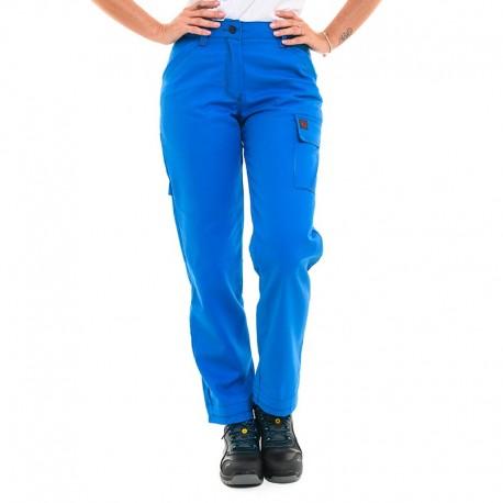 Pantalon de travail femme bleu azur