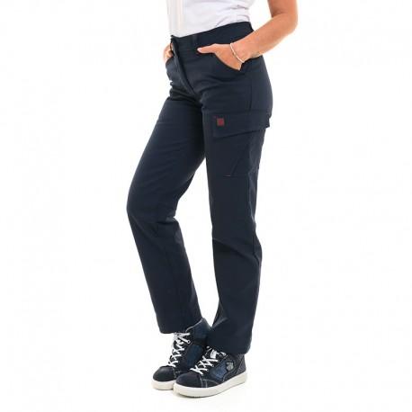 Pantalon à détail poche rabas velcro