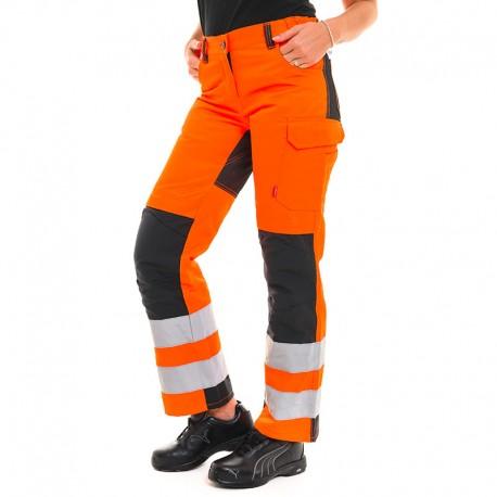 Pantalon orange fluo visibilité et sécurité