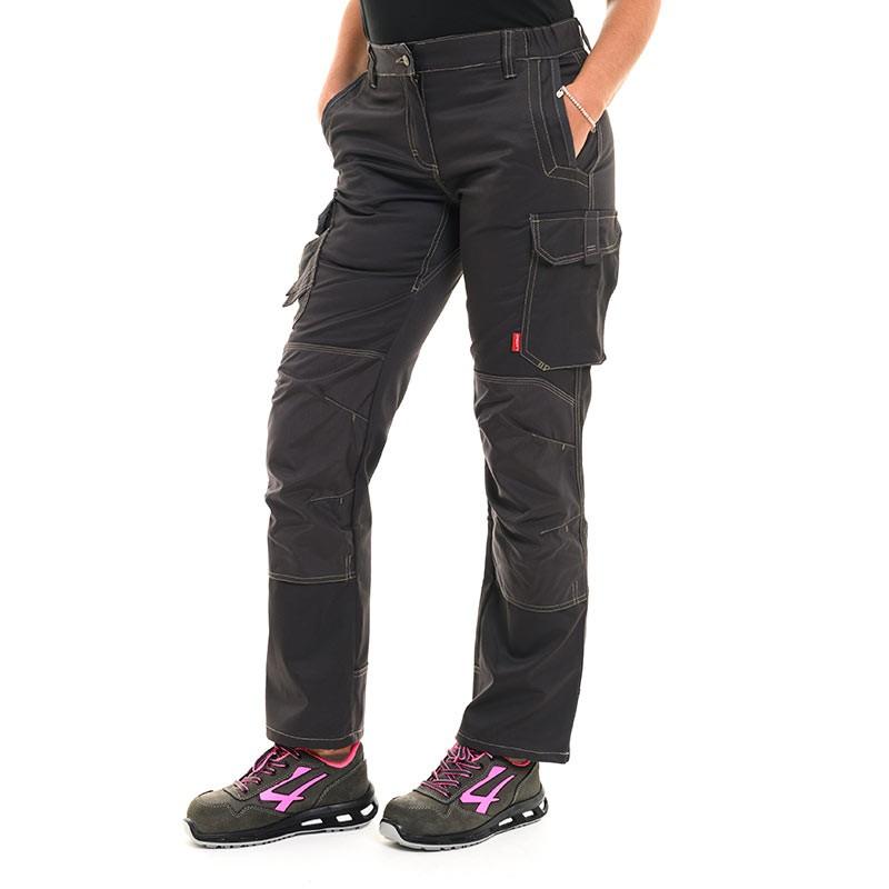 Pantalon de travail insert gris