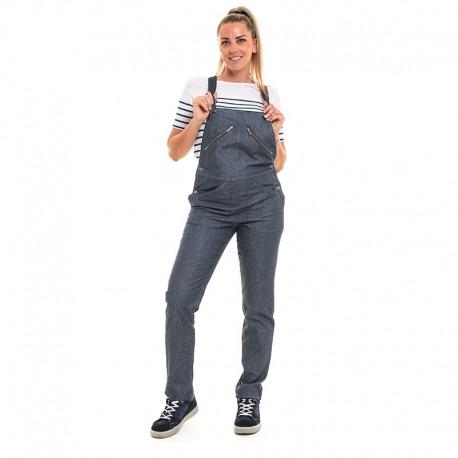 cotte en jean bleu clair