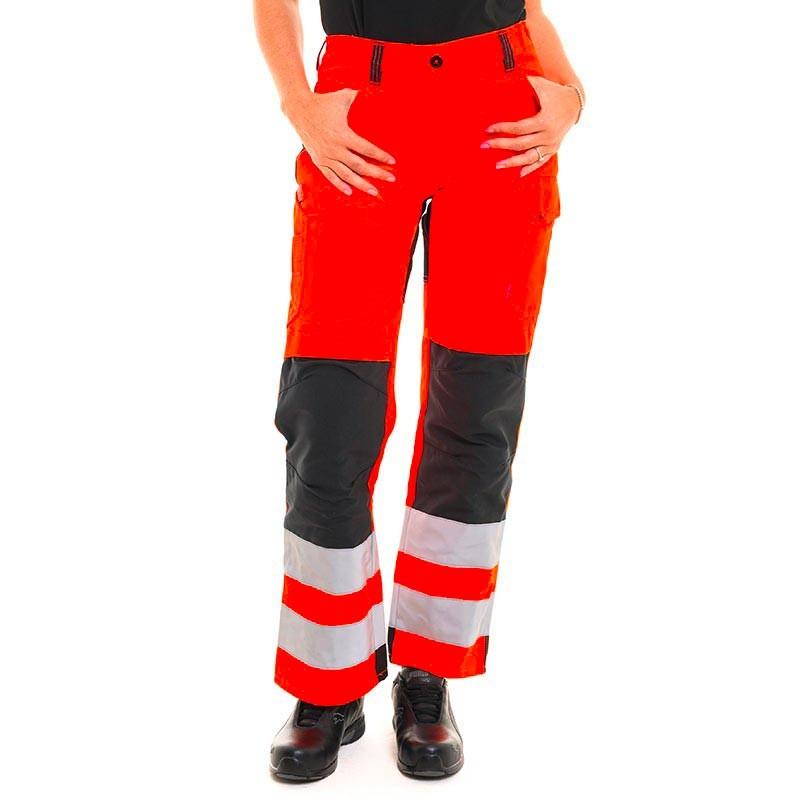 pantalon haute visbilité rouge