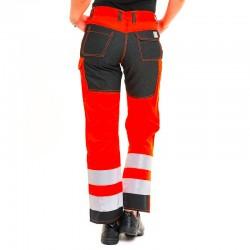 detail dos pantalon haute visibilite