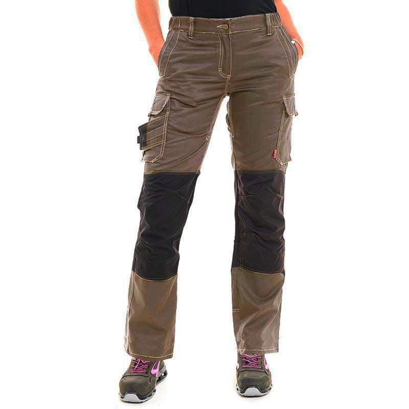 Pantalon de travail Femme Marron havane à bas prix