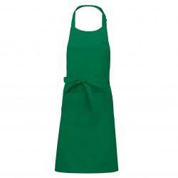 Tablier a bavette couleur vert