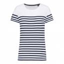 t-shirt marin blanc coton bio femme