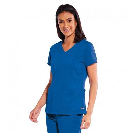 blouse femme grey's anatomy bleu royal
