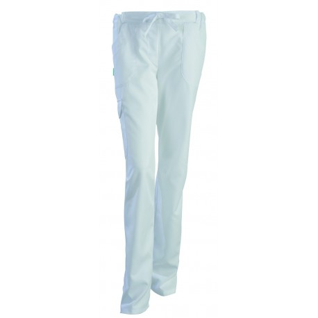 Pantalon esthéticienne Juliette blanc