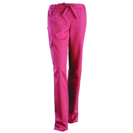 Pantalon esthéticienne Juliette rose cassis