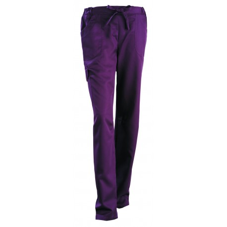 Pantalon esthéticienne Juliette prune
