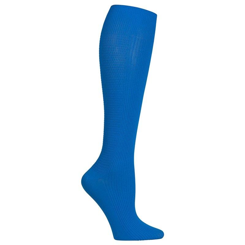 chaussettes de compression bleu roi