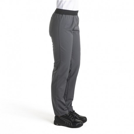 Pantalon de Cuisine gris Femme Manelli® ceinture élastique