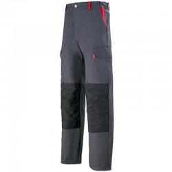 Pantalon de travail CHARBON/ ROUGE 1TEE82CP
