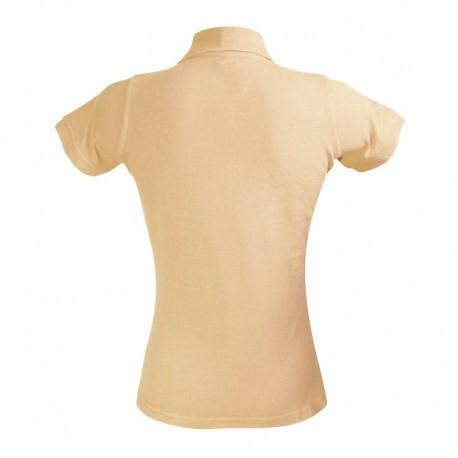 Polo femme couleur beige à manche courtes