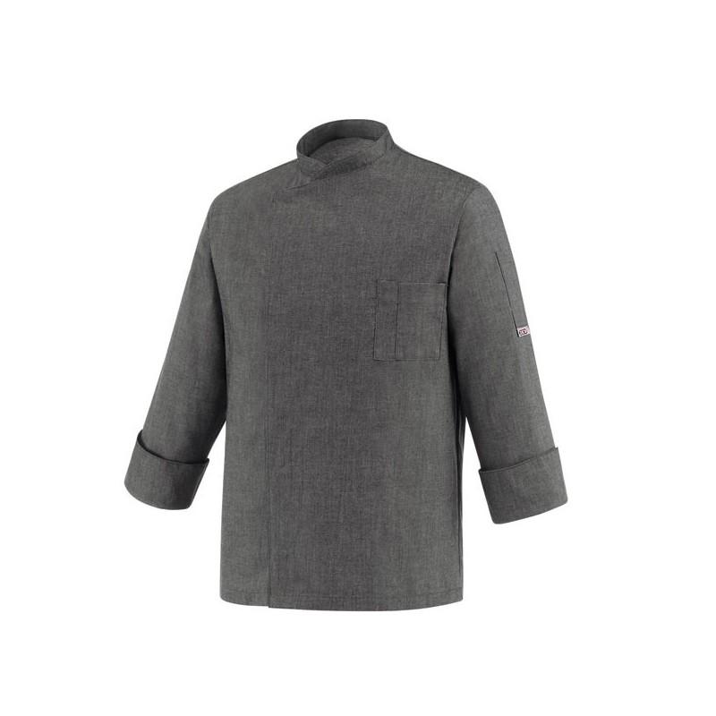 Veste de Cuisine grise - Primo, coupe simple et droite