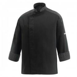 Veste de Cuisine noire - Lux, veste pour cuisinier noire, coupe droite
