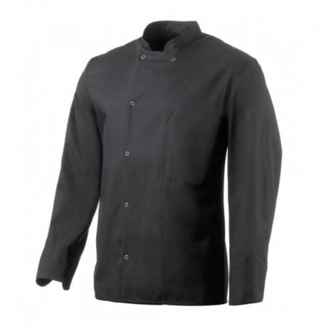 veste de cuisine apprenti noire inox manches longues