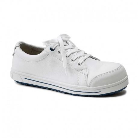 chaussures de sécurité en cuir blanches