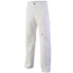 pantalon de travail blanc pour homme ou femme, à bas prix