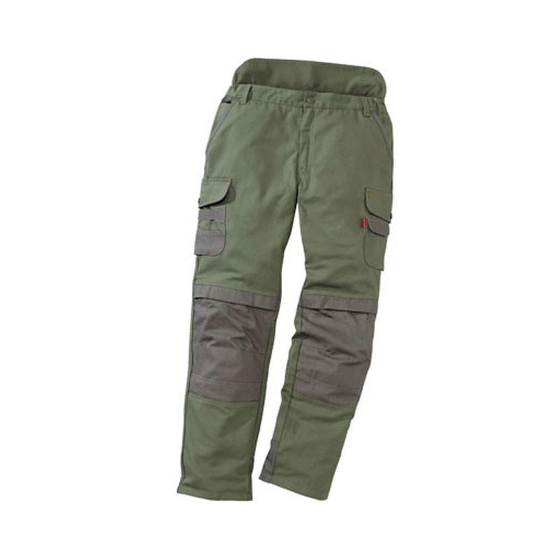 Pantalon de travail paysagiste et jardinier kaki et brun pour homme pas cher