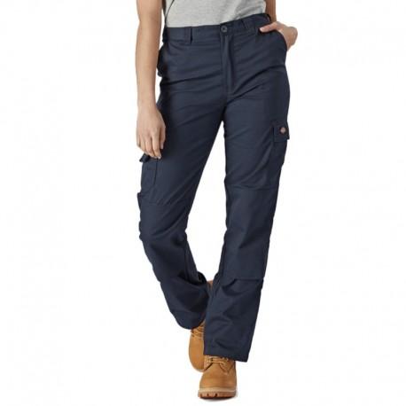 Pantalon de travail Dickies marine pour femme