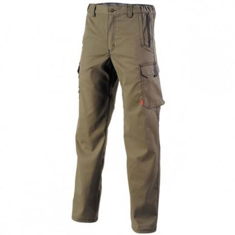 Pantalon de travail de travail Marron havane pas cher pour homme ou femme