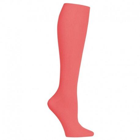 chaussettes de compression corail rose