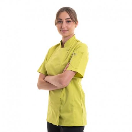 veste de cuisine pistache pour femme