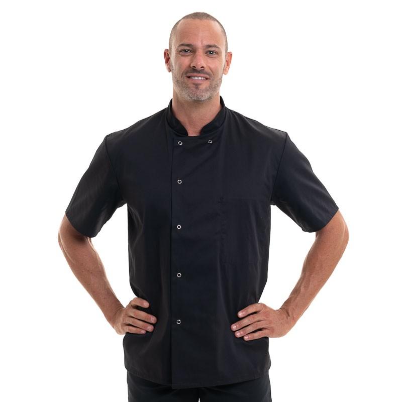 veste de cuisine apprenti noir inox manches courtes