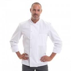 veste de cuisine apprenti blanche inox manches longues