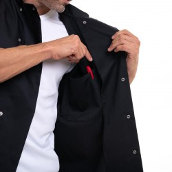 veste de cuisinier avec poche de rangement intérieur