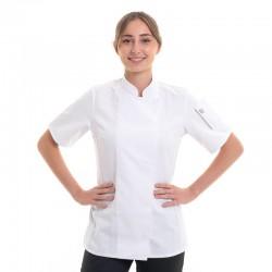 Veste de Cuisine Blanche Unera à Manches Courtes