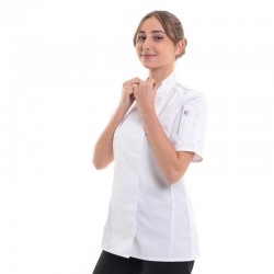 Veste cuisine femme - ROBUR - Col Officier, pinces poitrine
