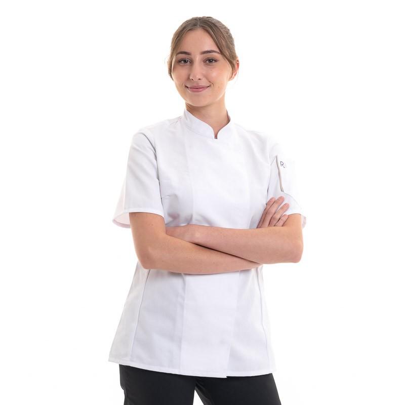 Veste de Cuisine Blanche Unera à Manches Courtes - ROBUR - Veste ajustée